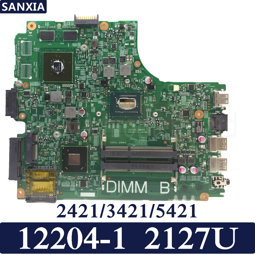 цена на KEFU 12204-1 Laptop motherboard for DELL INSPIRON 2421 3421 5421 Test original mainboard 2127U CPU GT625M Graphics card