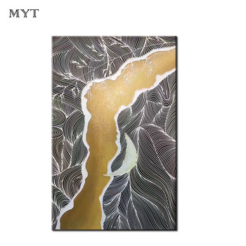 MYT Extrusion Line Design High Quality Nude Art Oil Painting On Canvas Nude Woman Sexy Back Wall Pictures Handpainted Painting
