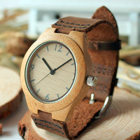 Bobo Bird panie zegarki bambusowe Top luksusowe kobiety drewniane zegarki kwarcowe dla pań prezenty na rękę Relogio Feminino C A44 w Zegarki damskie od Zegarki na