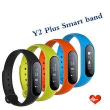 Лидер продаж Y2 плюс Smart Band Pulse сердечного ритма Фитнес трекер умный Браслет Беспроводные устройства сна Мониторы для Android IOS Телефон