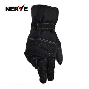 2018 Winter New NERVE waterproof Full Finger Motorcycle Glove Warm Motorbike Locomotive Racing gloves anti-slip windproof black