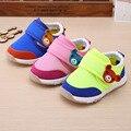 Новые Мальчики Grils Детская Обувь Сетка Теплый Демпфирования Вскользь Малыша Обувь Дышащая Скольжения Новорожденных Сначала Ходунки Квартиры Малыш Toddl