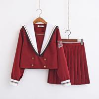 New Japanese School Uniform Long Skirt Jk Cosplay Lovely Korean Students Uniform Suit Winter Autumn Costumes College Girl Sailor