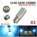 1 x LED BA15S P21W 1156 Fog Lamp Daytime Light Ice Blue Bulb 33-SMD 5630 5730 12V