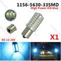 1 x LED BA15S P21W 1156 Fog Lamp Daytime Light Ice Blue Bulb 33-SMD 5630 5730 12V