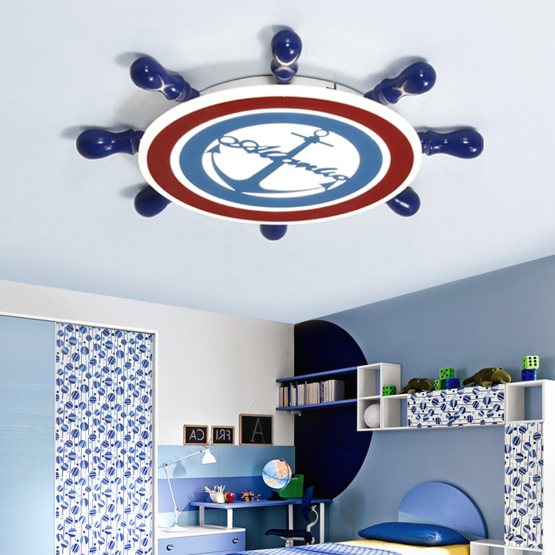 American creative cartoon children bedroom LED ceiling light fixture home deco mediterranean kid's room boat tuo ceiling lamp creative cartoon baby cute led act the role ofing boy room bedroom chandeliers children room roof plane light absorption