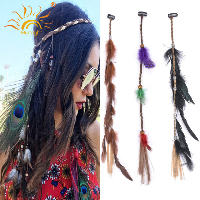 10pc Beauty Woman Clip In Hair Feather Extensions Easy Wear Pieces