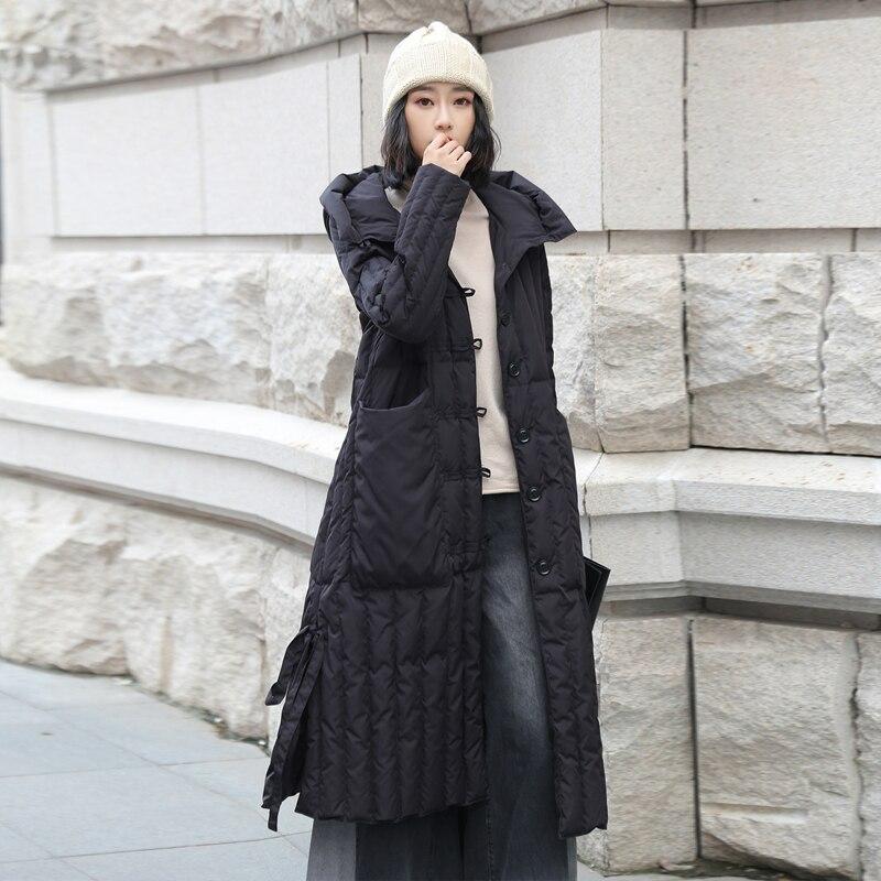 Winter fashion fluffy goose   down   filler hooded   coat   white goose   down   jacket female draped hollow cut longer warm   down     coat   wq810