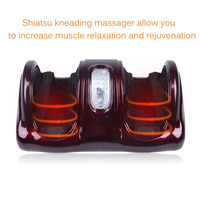 Electric Antistress Therapy Rollers Shiatsu Kneading Foot Legs Arms Massager Vibrator Foot Massage Machine Foot Care
