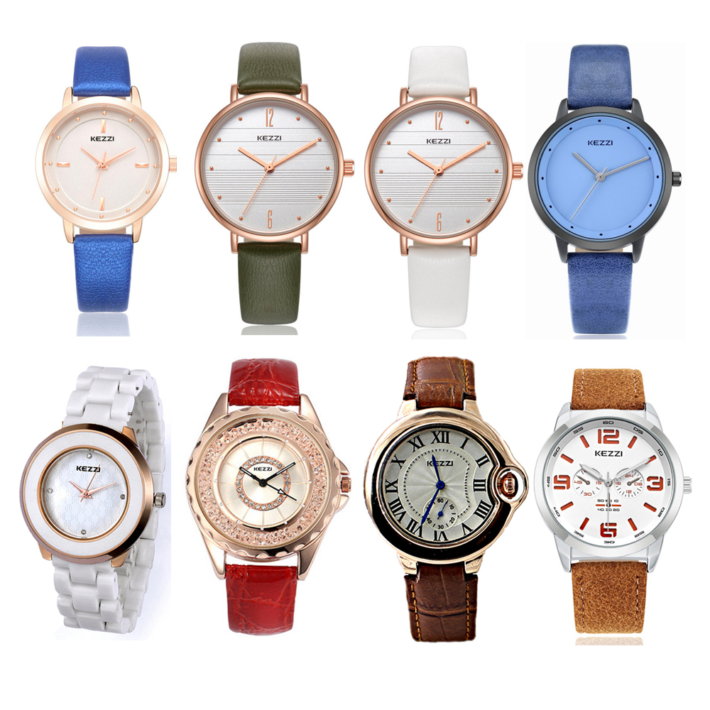 KEZZI Hot Sale Women Watch Mens Watches Fashion Casual Quartz Clock Watch For Women Men Watch Winter Clearance Sale Reloj Mujer