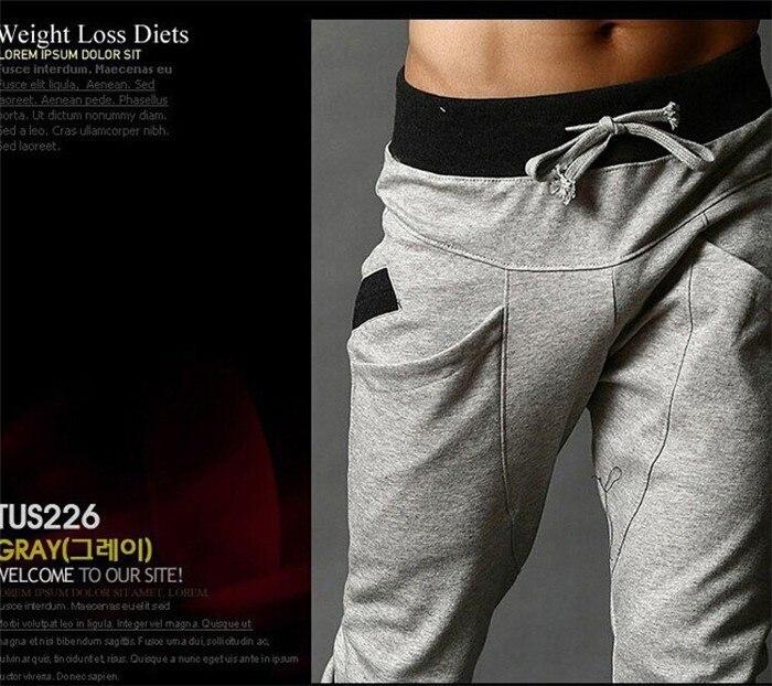 Хит, осенние мужские штаны, модные мужские штаны, повседневные облегающие мужские спортивные штаны, большие размеры