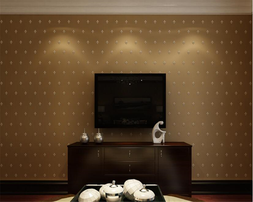 beibehang Classic three dimensional flocking pearl nonwoven papel de parede wallpaper living room bedroom restaurant background in Wallpapers from Home Improvement