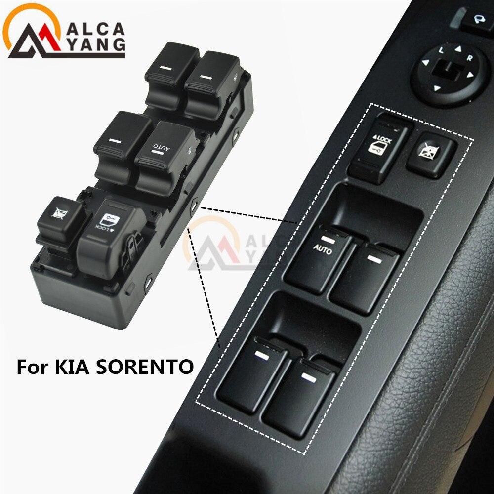 Interrupteur de commande de levage en verre de fenêtre principale gauche côté conducteur pour kia Sorento 2009 2010 2011 2012 2013 2014
