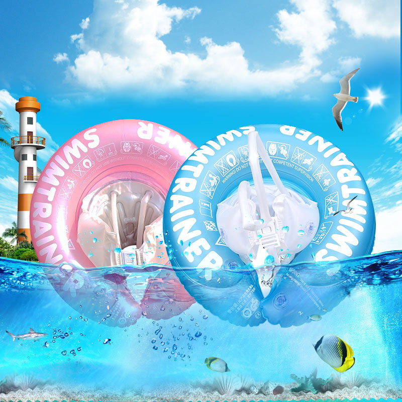 Baby Swimming Ring Inflatable Infant Armpit Floating Kids Swim Pool Accessories Circle Bathing Inflatable Double Raft Rings