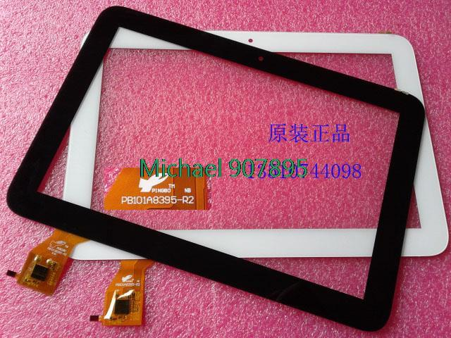 WHITE 10.1inch Android tablet capacitive touch screen and external screen PB101A8395-R2 noting size and color