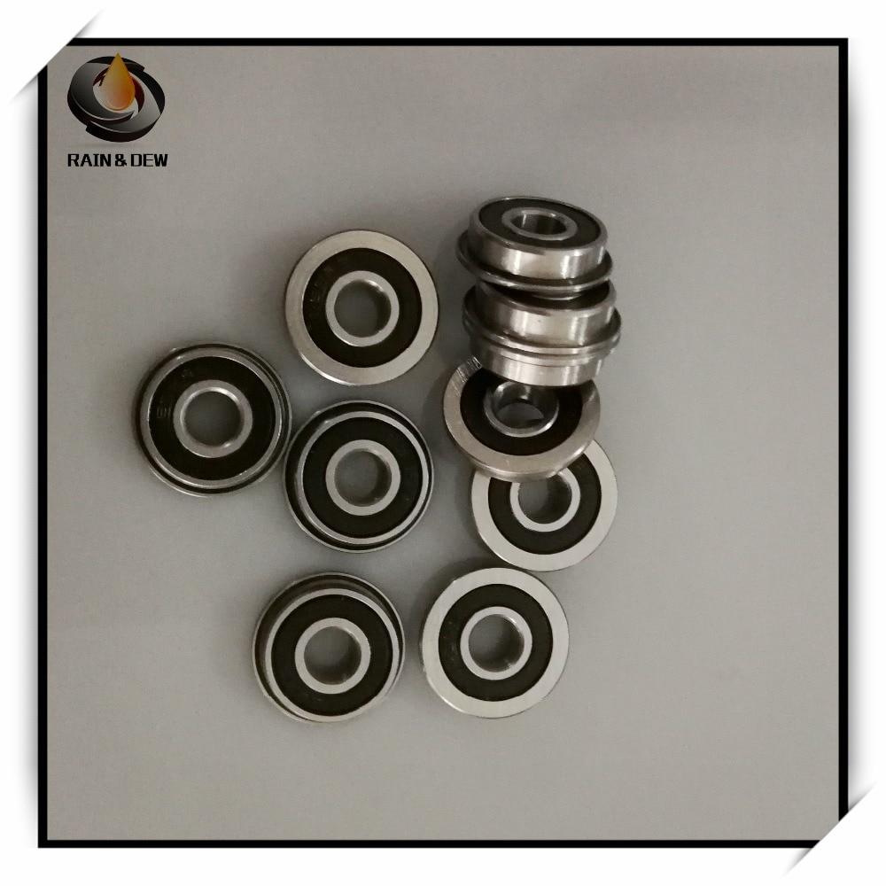 Metall Flansch Gummi Verpackt Ball Lager Blk 3 F623-2RS 3x10x4 MM 10 Stk.