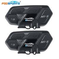 Fodsports 2 шт. M1 мотоцикла с внутренней группы шлем Bluetooth гарнитуры Водонепроницаемый громкой связи Mortorbike переговорные Moto Гарнир