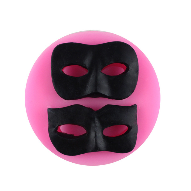 3d Silicone Moules Halloween Balle Masque Sugarcraft Fondant