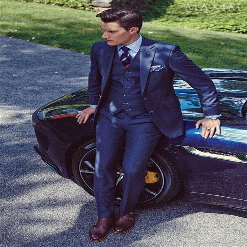 2019 High Quality Fashion Men Suits!Married Men Slim Dress, Man Coat Slim Fit Pants Jacket The Jacket + Pants, Vest, Tie