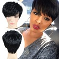 Black Wig Short Pixie Cut Cheap Synthetic Wigs Cheap Hair Short Wigs For Black Women Perruque Synthetic Women African American