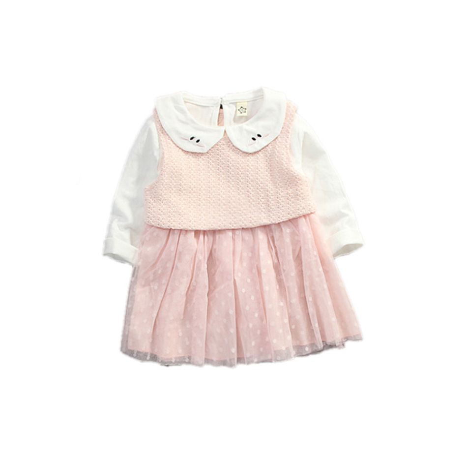 d7bca987e662 Baby Girl Dress 0 2Y Newborn Cute Baby Embroidery Cotton Dress ...