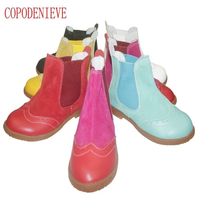 COPODENIEVE New Boys Girls Winter Snow Boots Children Ankle Shoes Breathable Sneakers For Kids Martin Boot Flats Leather Shoe