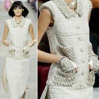high quality winter dress for women,elegant office dress,amazing vestido de festa,unique pearls party dress,dresses for girls