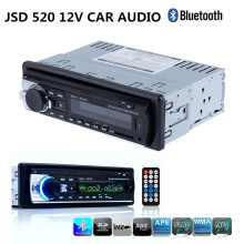 JSD520 Autoradio Car Radio with ISO Cable 12V Bluetooth Car Audio Stereo In-dash 1 Din FM Aux SD USB Bluetooth Car MP3 Player