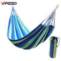 WFGOGO 190 100CM Hammock Portable Camping Garden Beach Travel Hammock Outdoor Ultralight Colorful Cotton Polyester Swing