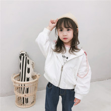 Hot Sale Baby Kids Coats Embroidery Pattern Girls Jackets Toddler Jacket Outwear Baseball Windproof Children Clothes