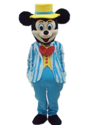 Mic & key souris mascotte costume taille adulte livraison gratuite 2014 produits de vente chaude