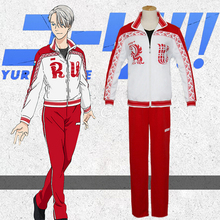 Cosplay Costumes Jacket Yuri Victor Nikiforov Hot-Anime Sport-Suit And Sets Pants on