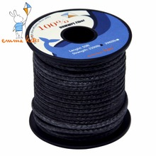 2200lbs Large Kite Flying Line 3mm UHMWPE Fiber Black Braided Line Cord For Camping Boating Fishing