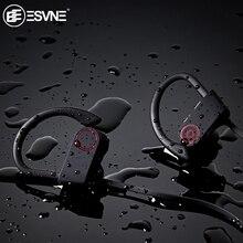 ESVNE IPX7 للماء 5.0 بلوتوث سماعة الضوضاء إلغاء ايفي ستيريو سماعات لاسلكية سماعة رياضية سماعات الأذن للهاتف