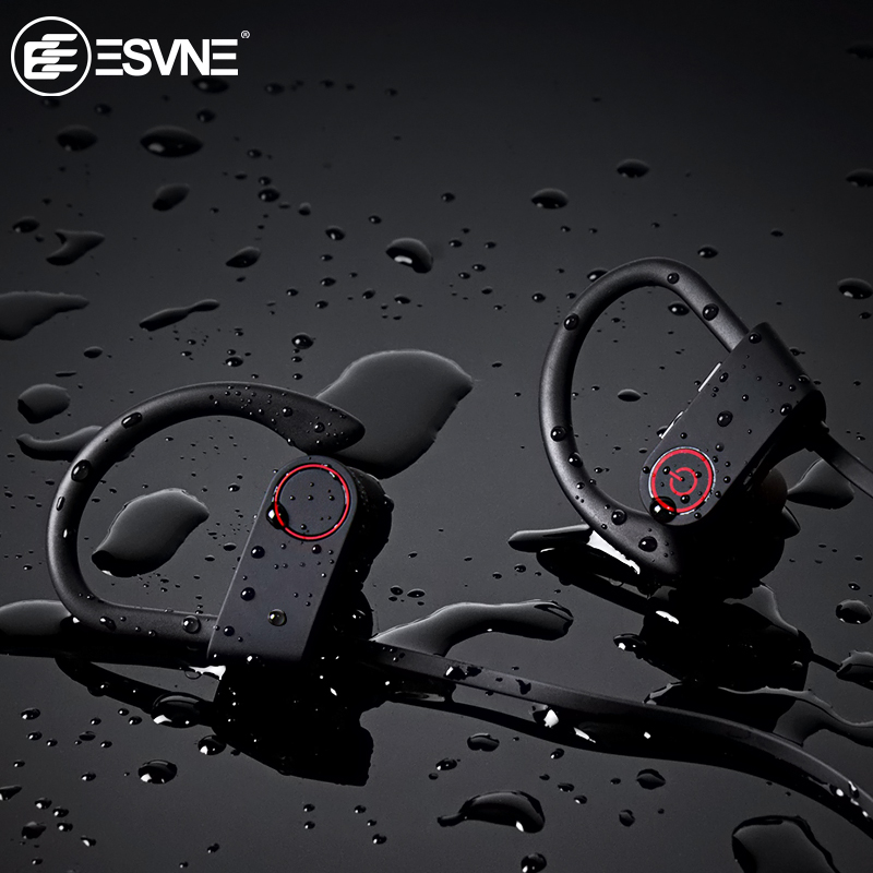 ESVNE IPX7 Waterproof 5.0 Bluetooth Earphone Noise Cancelling HiFi Stereo Wireless Headphones Sports Headset Earbuds For Phone