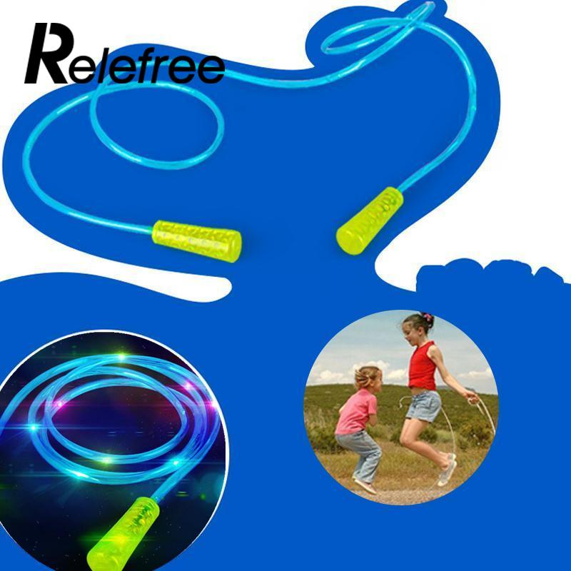 Relefree 4 Color Kids Toys Gift Fitness Bodybuilding Exercise Colorful Changing LED Flashing Light Up Glow Skipping Jump Rope