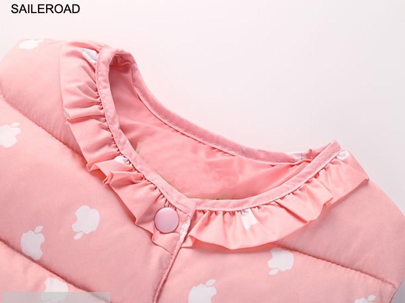 SAILEROAD 2-7T Autumn Winter Sweet Children's Girls Jackets Cotton Warm Kids Vest For Girl Waistcoat Children Outerwear Clothing 5