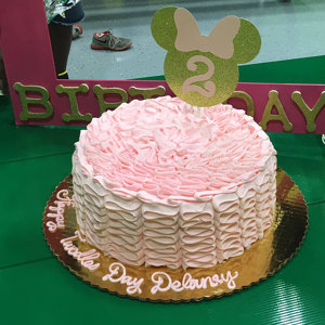 Gold And Pink Minnie Cake Topper 2 Years Old Birthday In Decorating Supplies From Home Garden On Aliexpress
