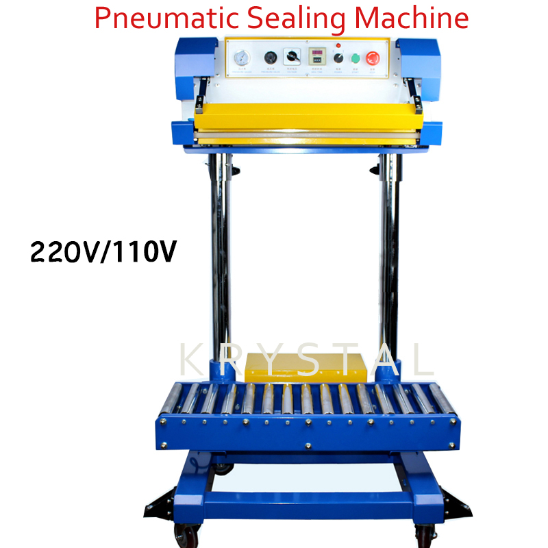 220V/110V Pneumatic Plastic Bags Sealer Bag Sealing Machine Fertilizer Bag Machine Food Machine Holding Bag QF 600L