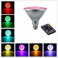 LMCO E27 Dimmable LED Spotlight RGB Magic Light Bulb 20W PAR38 10W PAR30 Light Waterproof Outdoor