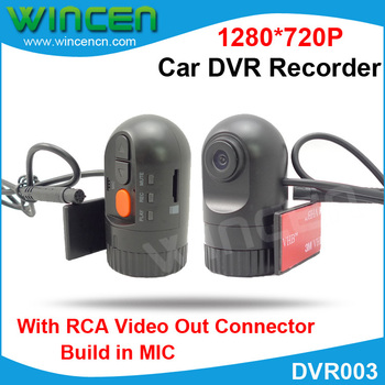 HD Car DVR Recorder for Car DVD with RCA Output Built-in Speaker Support Max 32 GB SD card for the DVD with RCA Video in port