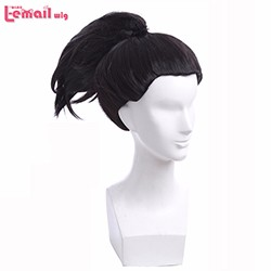 Free-shipping-cosplay-wig-Yasuo-lol-Game-characters-wig-The-black-hair-ML218