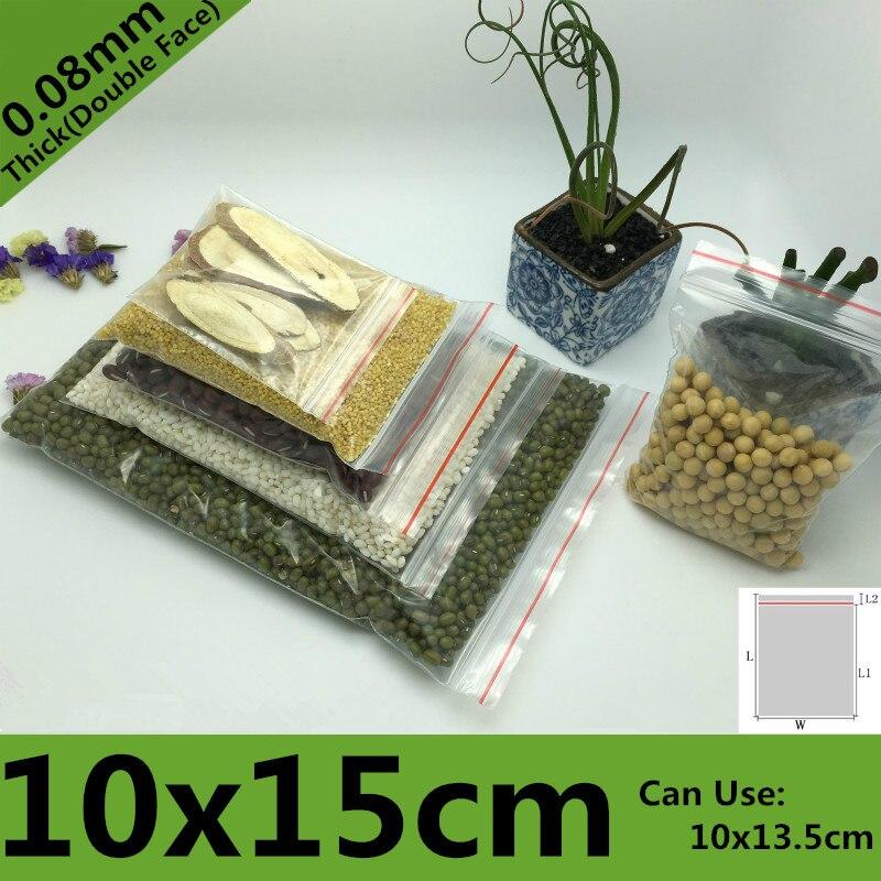 100pcs 10*15cm PE Clear Transparent Photo Card Packaging Bags Plastic Travel Necklace Jewelry Diy Custom Ziplock Self Seal Bag