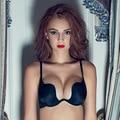 2016 Hot Sexy Cruz Halter-Neck Mulheres 3/4 Xícara Profundo U Bra One Piece-Roupa Interior Invisível Sem Costura Sólida breves conjuntos de Sutiã Grande tamanho