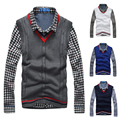 2016 new V-neck Leisure Shag Line Set Head Polo Sweaters Pullovers Men's Clothing Vest Sweater Male Handsome Sleeveless