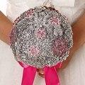 Высокое качество 2016 роскошный индивидуальные свадебное YIYI букет с перл из бисера брошь свадьба красочные невеста букет WD043