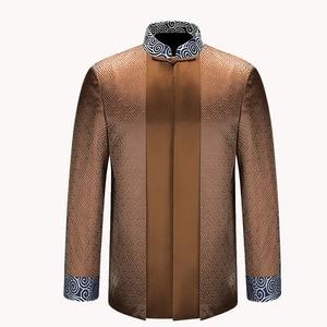 Image 5 - APEC Tang Suit Brand New Purple Chinese Traditional Mens Mandarin Collar Leader Costume Jackets Coats M L XL XXL XXXL YZT1209