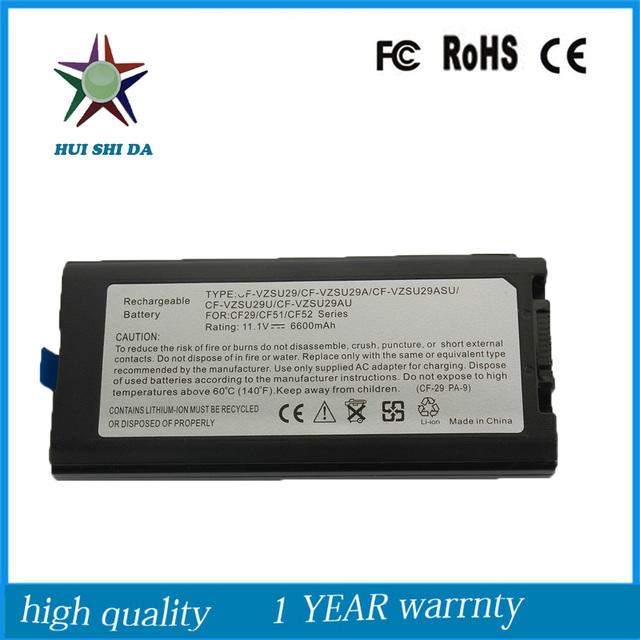 11.1 v 6600 mah celular japonês new bateria do portátil para panasonic cf52 cf-vzsu29au cf-vzsu29u cf29