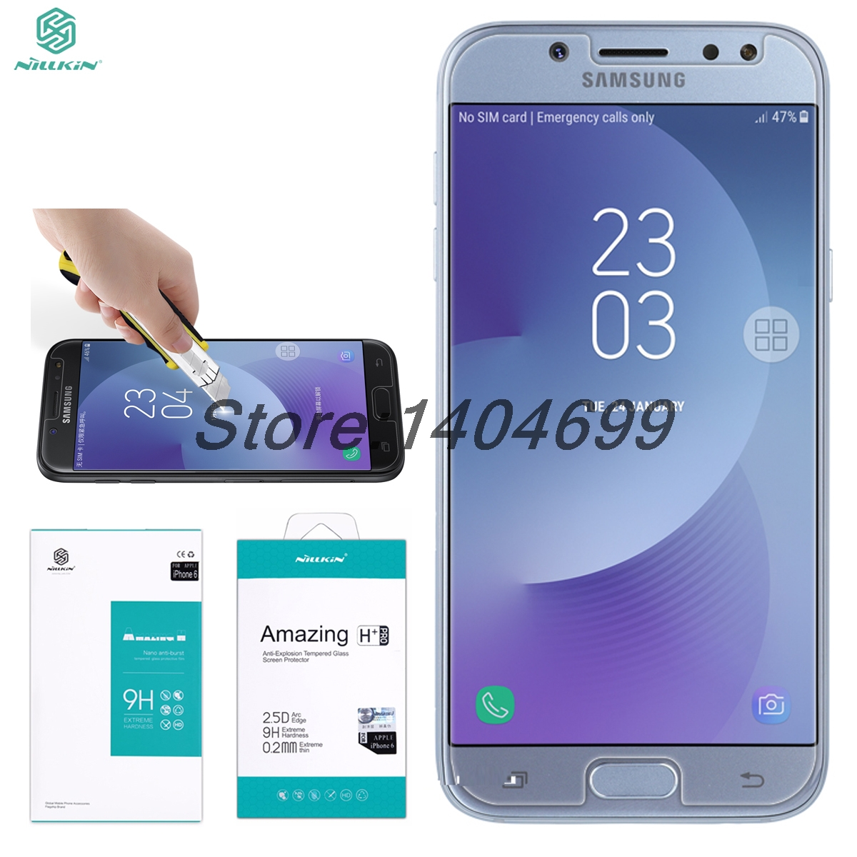 Screen Protector sFor Samsung Galaxy j5 2017 Tempered Glass Film 9H Nillkin Amaz