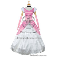 Cinderella II 2 Dreams Come True Cosplay Princess Cinderella Costume Pink Formal Dress Beautiful Glamorous Halloween Party